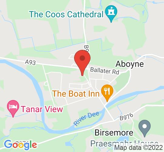 Google map static shot of Aboyne Community Theatre, Aberdeenshire, AB34 5JN