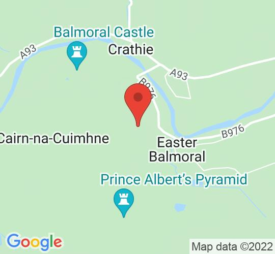Google map static shot of Balmoral Castle, Aberdeenshire, AB35 5TB