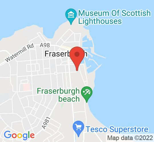Google map static shot of Dalrymple Hall & Art Centre, Fraserburgh, AB43 9BD