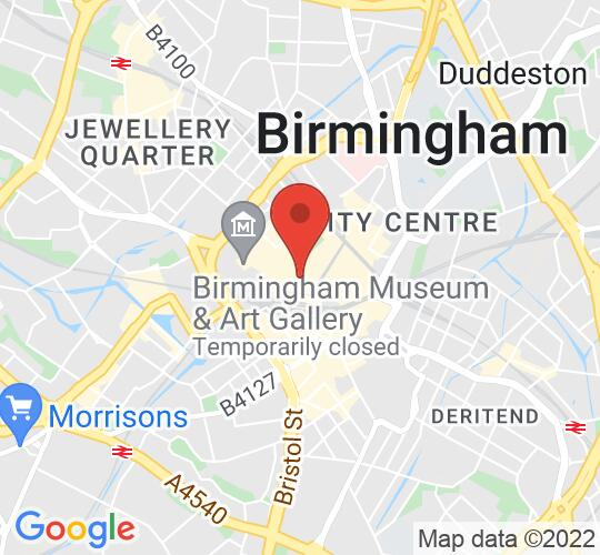 Google map static shot of The Botanist Birmingham, Birmingham, B2 5BG