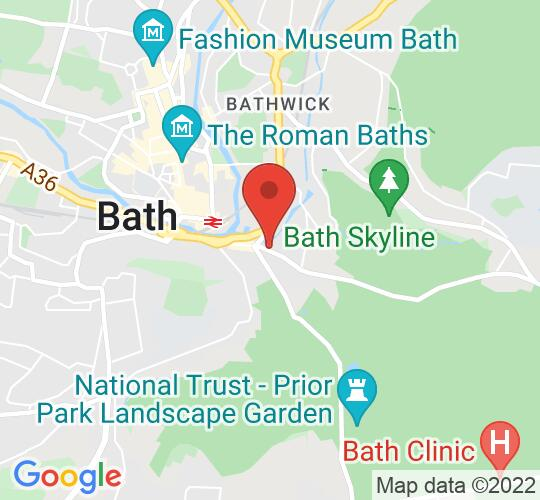 Google map static shot of Widcombe Social Club, Bath, BA2 6AA