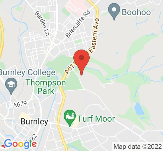 Google map static shot of Burnley Youth Theatre, Burnley, BB10 3LB