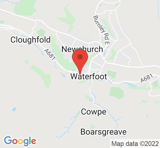 Google map static shot of The Boo, Waterfoot, Rossendale, BB4 7HB