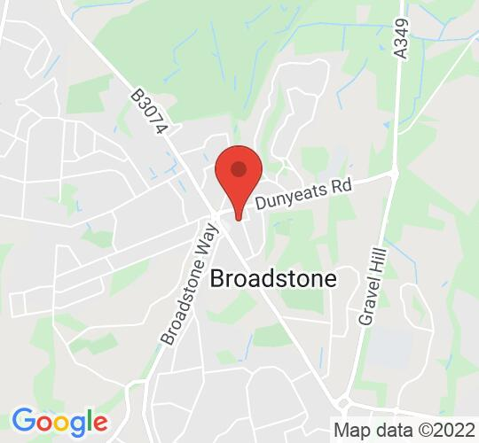 Google map static shot of St. John's Church, Broadstone, BH18 8AR