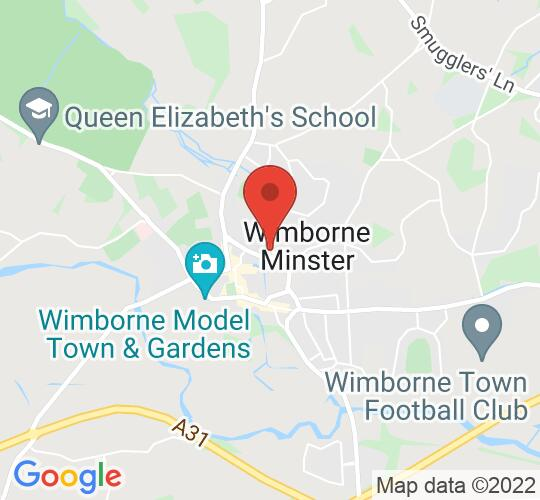 Google map static shot of The Allendale Centre, Main Hall, Wimborne, BH21 1AS