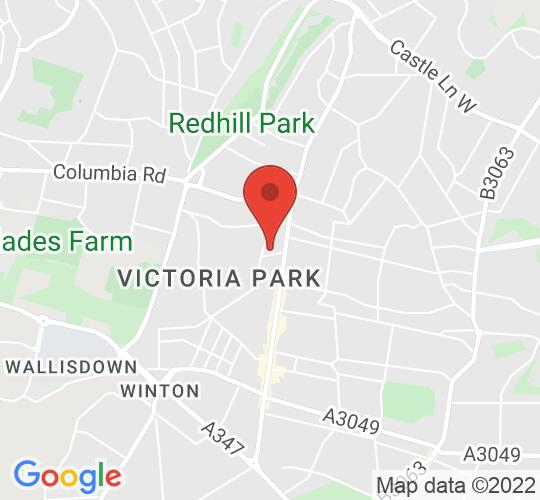 Google map static shot of Bournemouth Little Theatre, Dorset, BH9 2QD