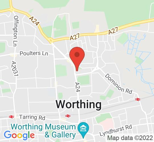 Google map static shot of Lancing Prep Worthing, West Sussex, BN14 8HU