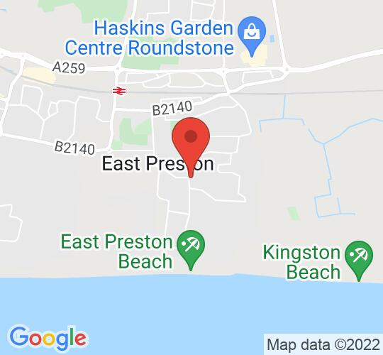 Google map static shot of EAST PRESTON - Conservative Hall, East Preston, BN16 1JN