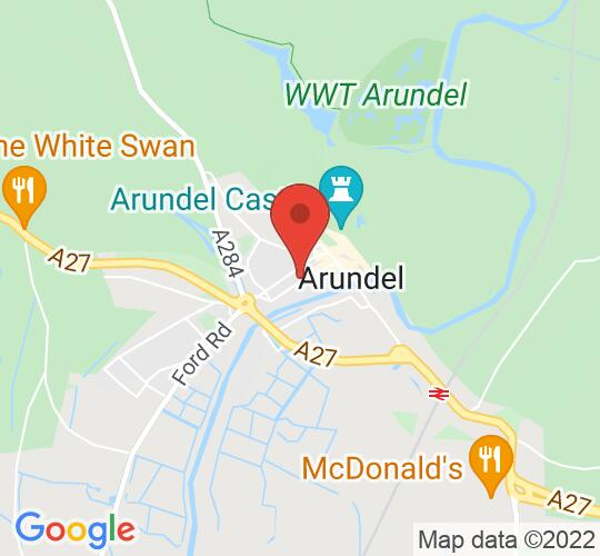 Google map static shot of The Hanover Band Office, Arundel, BN18 9DJ
