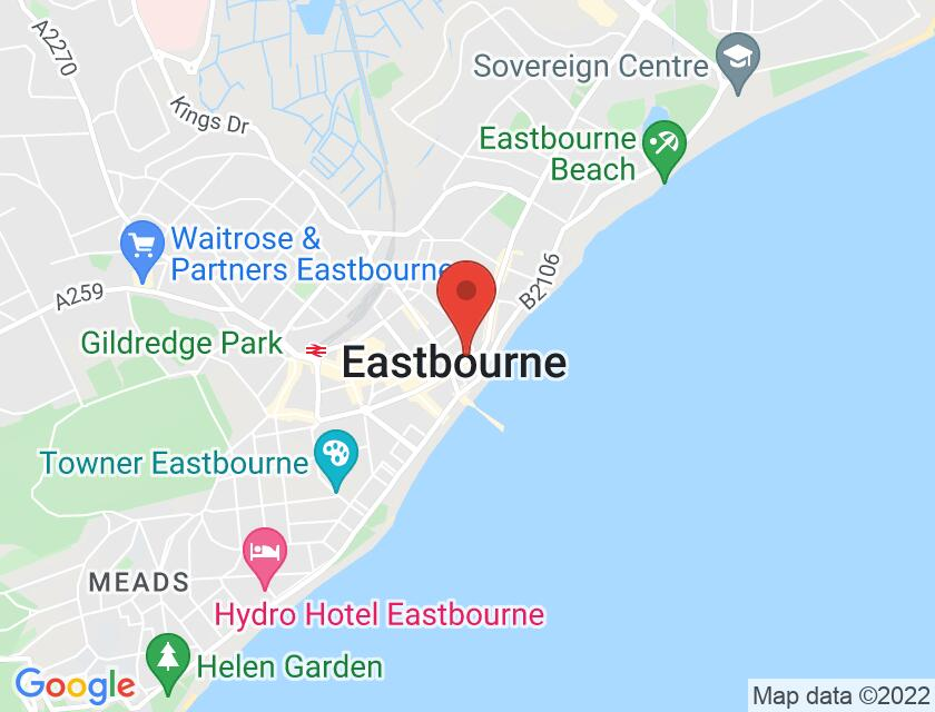 Google map static shot of Royal Hippodrome Theatre, Eastbourne, BN21 3PF