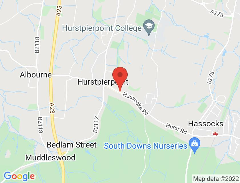 Google map static shot of Players Theatre, Hurstpierpoint, BN6 9pu