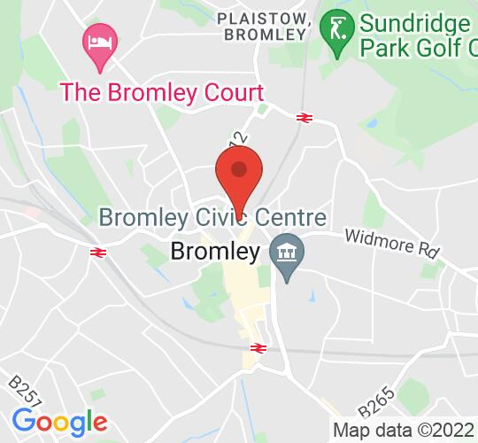 Google map static shot of Bromley Little Theatre, Bromley, BR1 1SB
