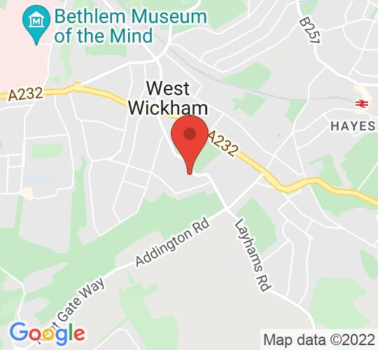 Google map static shot of Wickham Theatre Centre, West Wickham, BR4 9BA