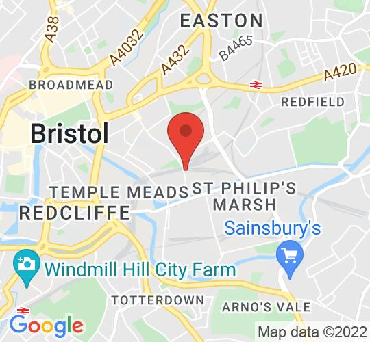 Google map static shot of The Big Act, Bristol, BS2 0QW