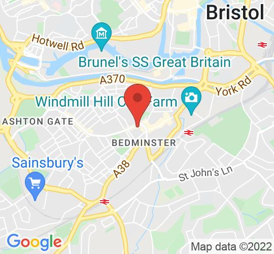 Google map static shot of Storysmith, Bristol, BS3 1EN