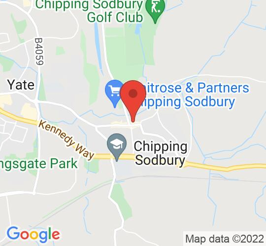 Google map static shot of Chipping Sodbury Town Hall, Bristol, BS37 6AD