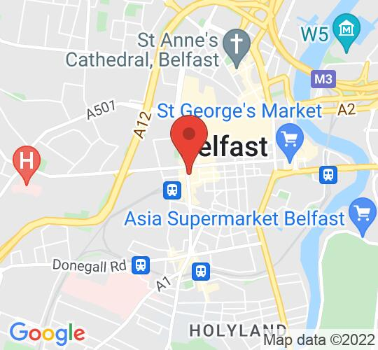 Google map static shot of Europa Hotel, Belfast, BT2 7AP