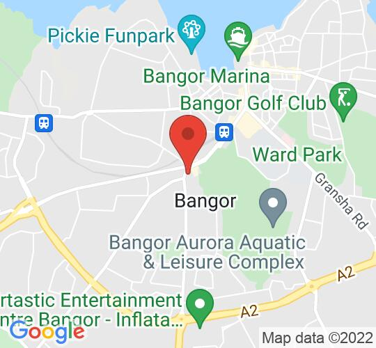 Google map static shot of Columbanus Room, Bangor Abbey Parish Centre, Bangor, BT20 4JF