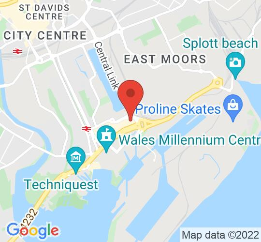 Google map static shot of Future Inn Cardiff Hotel, Cardiff, CF10 4AU