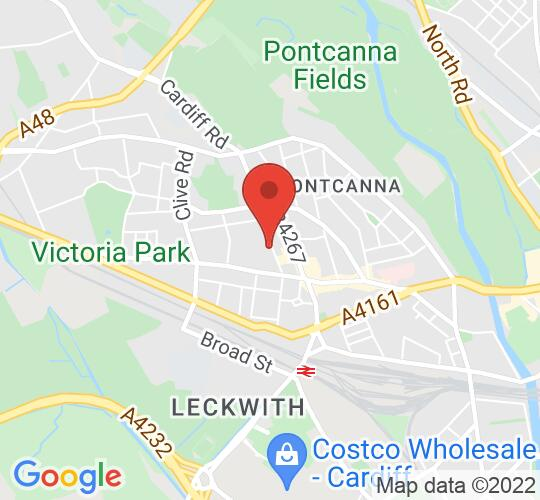 Google map static shot of Chapter Arts Centre, Cardiff, CF5 1QE