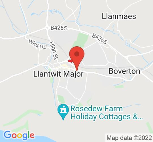 Google map static shot of Llantwit Major Rugby Football Club, Llantwit Major, CF61 1AF