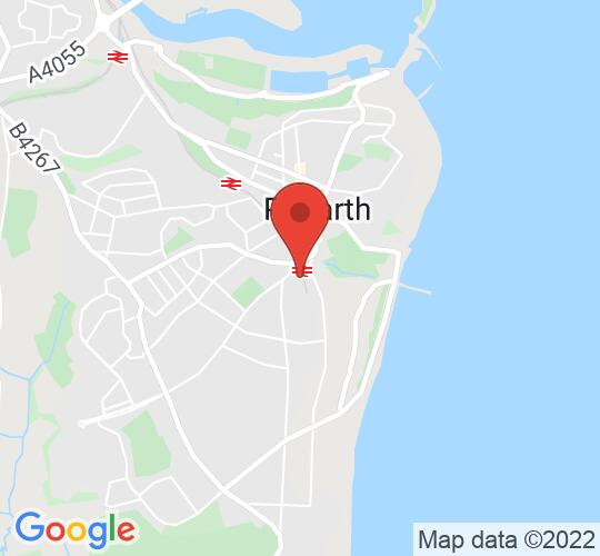 Google map static shot of TicketSource Arena, Penarth, CF64 3EE