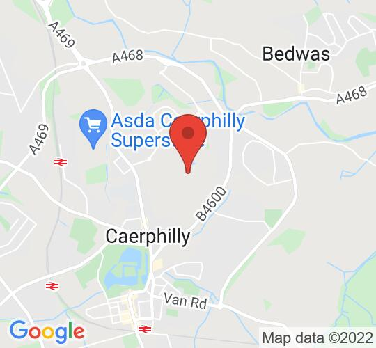 Google map static shot of Virginia Park Golf Club, Caerphilly, CF83 3SW