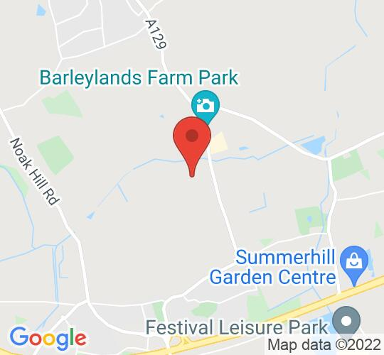 Google map static shot of Blues At Barleylands, Billericay, CM11 2UF