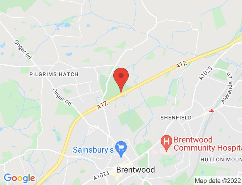 Google map static shot of Brentwood Centre, Brentwood, CM15 9NN
