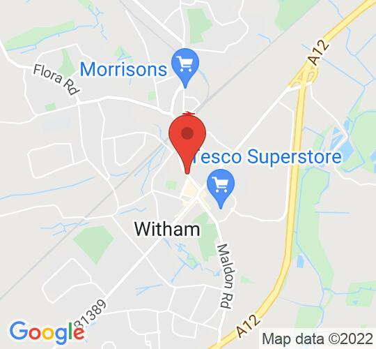 Google map static shot of Witham Public Hall, United Kingdom, CM8 2DY