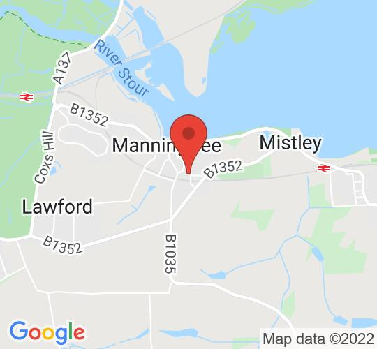Google map static shot of Manifest Theatre Group, Manningtree, CO11 1BP