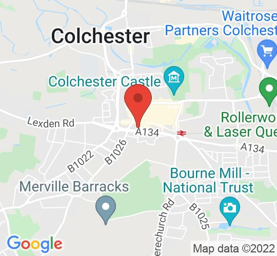 Google map static shot of Headgate Theatre, Colchester, CO2 7AT