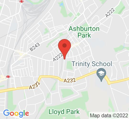 Google map static shot of St Mildred's Church, Croydon, CR0 7EB