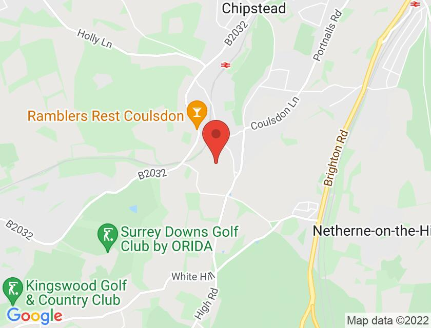 Google map static shot of Courtyard Theatre, Chipstead, Coulsdon, CR5 3QU