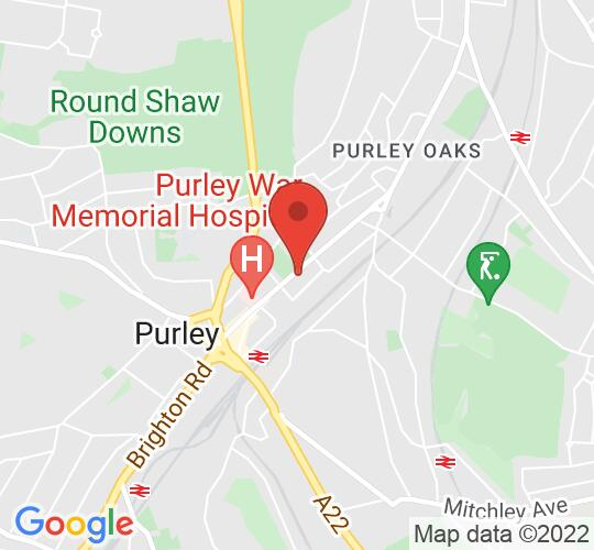 Google map static shot of Christ Church Purley, Surrey, CR8 2BN