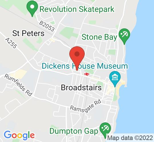 Google map static shot of Sarah Thorne Theatre, Broadstairs, CT10 2BN
