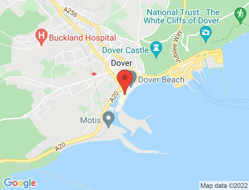 Google map static shot of Best Western Plus Dover Marina Hotel & Spa, Dover, CT17 9BP