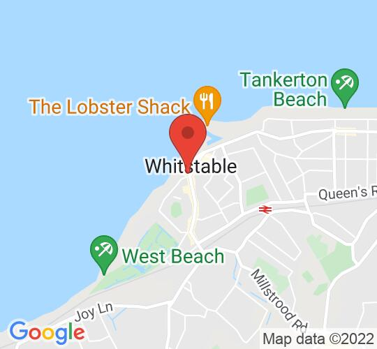 Google map static shot of The Horsebridge Arts & Community Centre, Whitstable, CT5 1AF