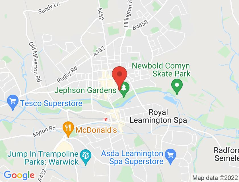Google map static shot of Royal Spa Centre, Leamington Spa, CV32 4HN