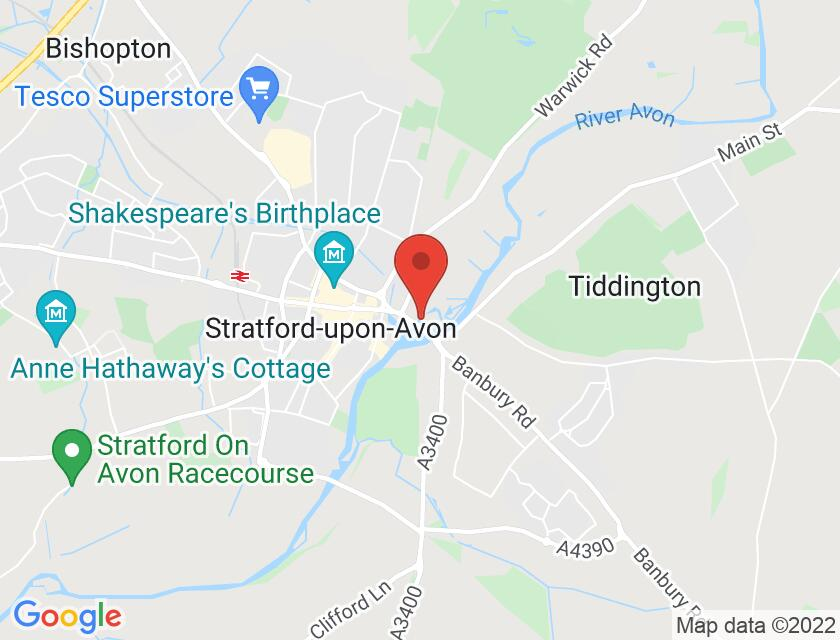 Google map static shot of The Attic Theatre, Stratford-upon-Avon, CV37 6YY