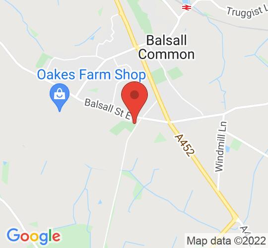 Google map static shot of St Peters Hall, Balsall Common, CV7 7EA