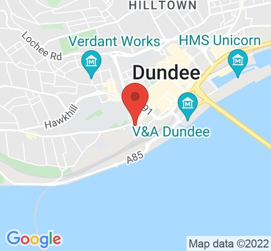 Google map static shot of Queens Hotel, Dundee, DD1 4DU