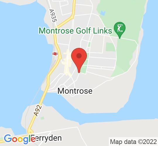 Google map static shot of Montrose Museum and Art Gallery, Montrose, DD10 8HF