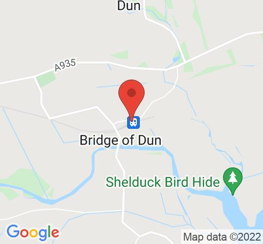 Google map static shot of Caledonian Railway, Bridge of Dun, DD10 9LH