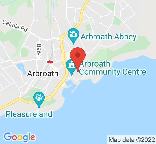 Google map static shot of The Webster Memorial Theatre, Arbroath, DD11 1AW