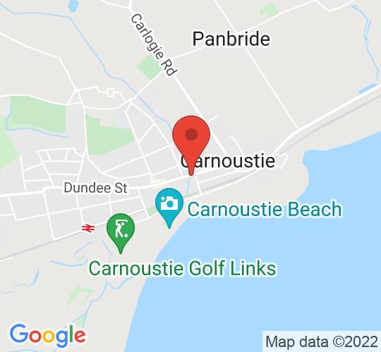 Google map static shot of Carnoustie Library, Carnoustie, DD7 6AN