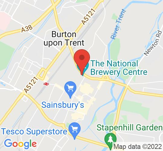 Google map static shot of National Brewery Centre, Burton-on-Trent, DE14 1NG