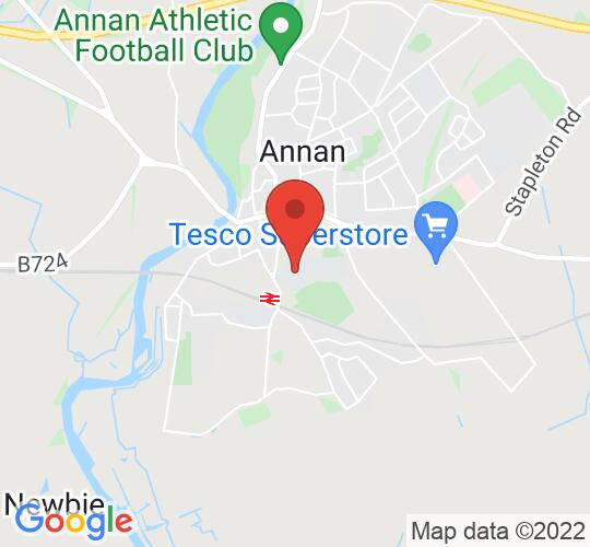 Google map static shot of Annan Academy, Annan, DG12 6AP