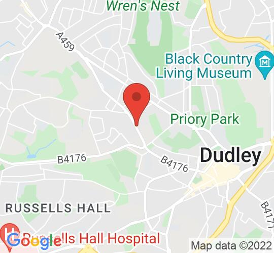 Google map static shot of Dudley Community Church, Dudley, DY1 3AT