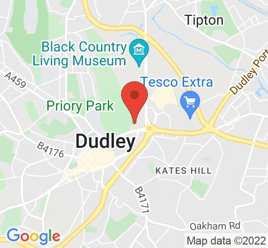 Google map static shot of The Station Hotel Dudley, Dudley, DY1 4RA